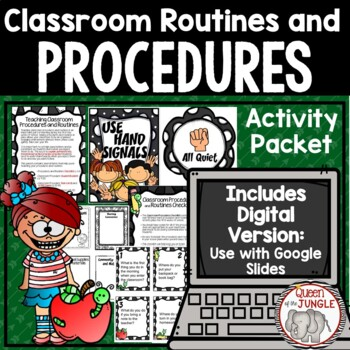 Classroom Procedures and Routines Checklist Booklet and Ta