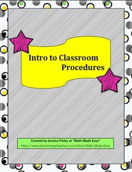 Classroom Procedures for the First Few Weeks of School