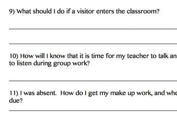 Classroom Procedures to Teach