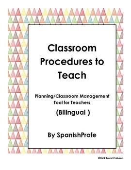 Classroom Procedures to Teach (Planning/Classroom Manageme
