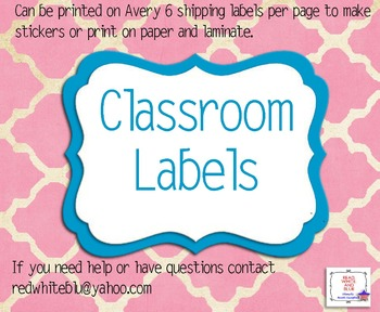 Classroom Quatre Foil Labels