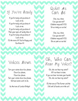 Classroom Quiet and Ready songs