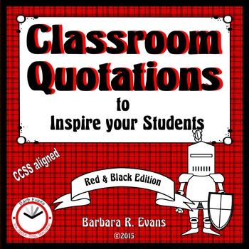 CLASSROOM QUOTATIONS to Inspire Your Students: Red & Black