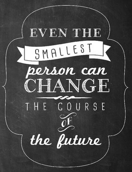 Classroom Quote printable, Change the Course of the future