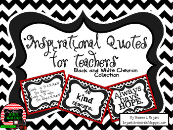 Classroom Quotes and Typography for Teachers (Black and Wh