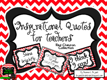 Classroom Quotes and Typography for Teachers (Red and Whit