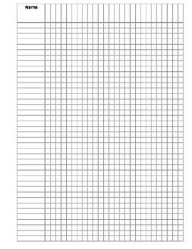 Classroom Record Sheet