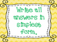 Classroom Reminders for Upper Elementary