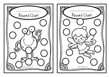 Classroom Reward Charts Set #2 Set of 24