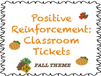 Classroom Reward Tickets: Spring Theme