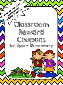 Classroom Rewards Coupons (Chevron)