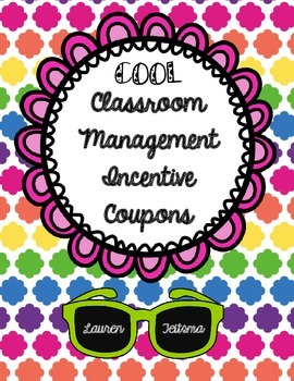 """Classroom Management Incentive """"Coupons"""""""