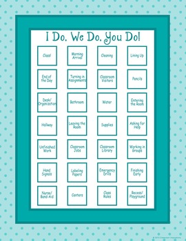 Classroom Routines Interactive Posters – Matches Book Smar