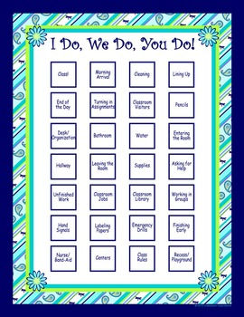 Classroom Routines Interactive Posters – Matches Pretty Pa