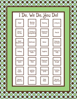 Classroom Routines Interactive Posters – Matches Turtle Ti