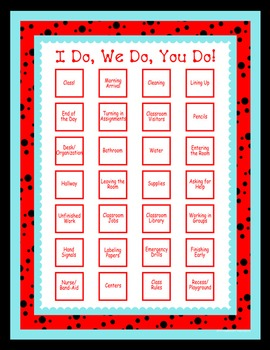 Classroom Routines Interactive Posters–Matches Ladybugs an
