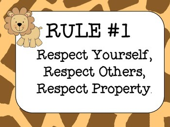 Classroom Rule Posters Whole Brain Teaching