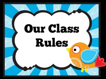 Classroom Rules Posters | Class Rules Posters | Classroom