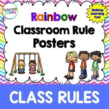Editable Class Rules (Rainbow Chevron)