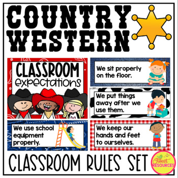 Classroom Rules {Country Western Classroom Decor Theme}
