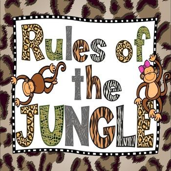 Jungle Classroom Rules