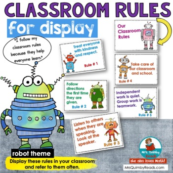 Classroom Rules - Anchor Charts to display rules - Grades K-5