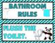CLASSROOM RULES: Aqua & Black Edition