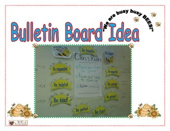 """Classroom Rules- Bee  Theme """"- We Are Busy Bees."""""""