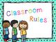 Classroom Rules Blue Polka Dot Theme