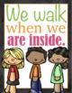 Classroom Rules Chalk Board Poster Set {Preschool and Prim