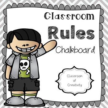 Classroom Rules - Chalkboard