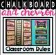 Classroom Rules Display {Chalkboard and Chevron Classroom