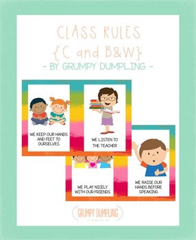 Class Rules Posters {C & B&W}
