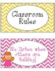 Classroom Rules in Chevron {editable}