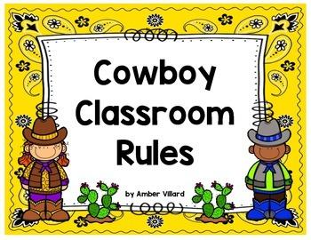Classroom Rules {Cowboy}