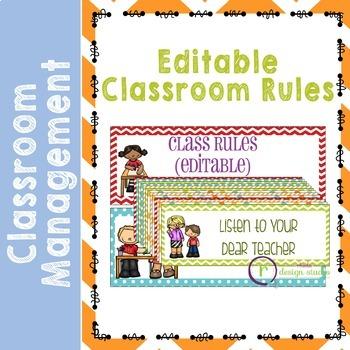 Classroom Rules {EDITABLE} Poster Set