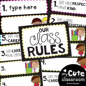 Classroom Rules - Editable