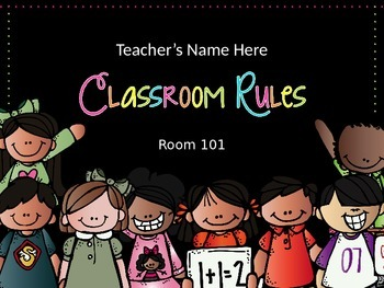 Classroom Rules - Editable Presentation {Melonheadz Polka