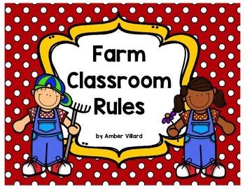 Classroom Rules {Farm}