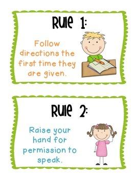 Classroom Rules Freebie!