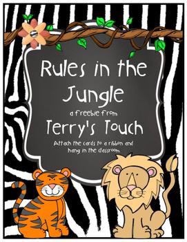 Classroom Rules Jungle/Safari/Zoo Theme