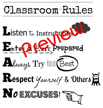 Classroom Rules (LEARN)