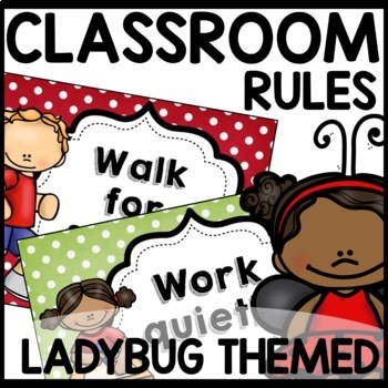 Classroom Rules (Lady Bug Themed)