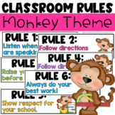 Classroom Rules - Monkey Theme