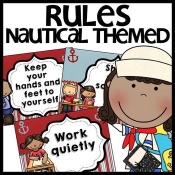 Classroom Rules (Nautical Themed)