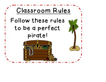 Classroom Rules - Pirate Theme