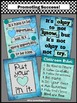 Classroom Rules Poster Back to School Blue & Teal Decor