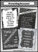 Class Rules Set of 4 Black and White Posters for Back to S