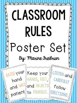 Classroom Rules {Poster Set}
