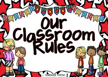 Our Classroom Rules Poster Set {Bright Stars}